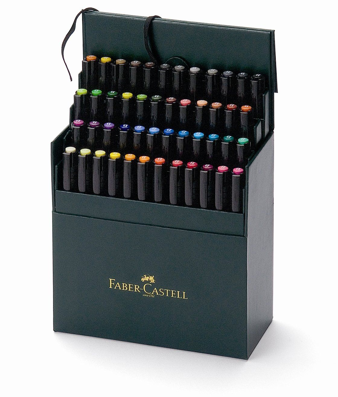 Amazon Com Faber Castell Pitt Brush Pen Set 48 Pkg Assorted