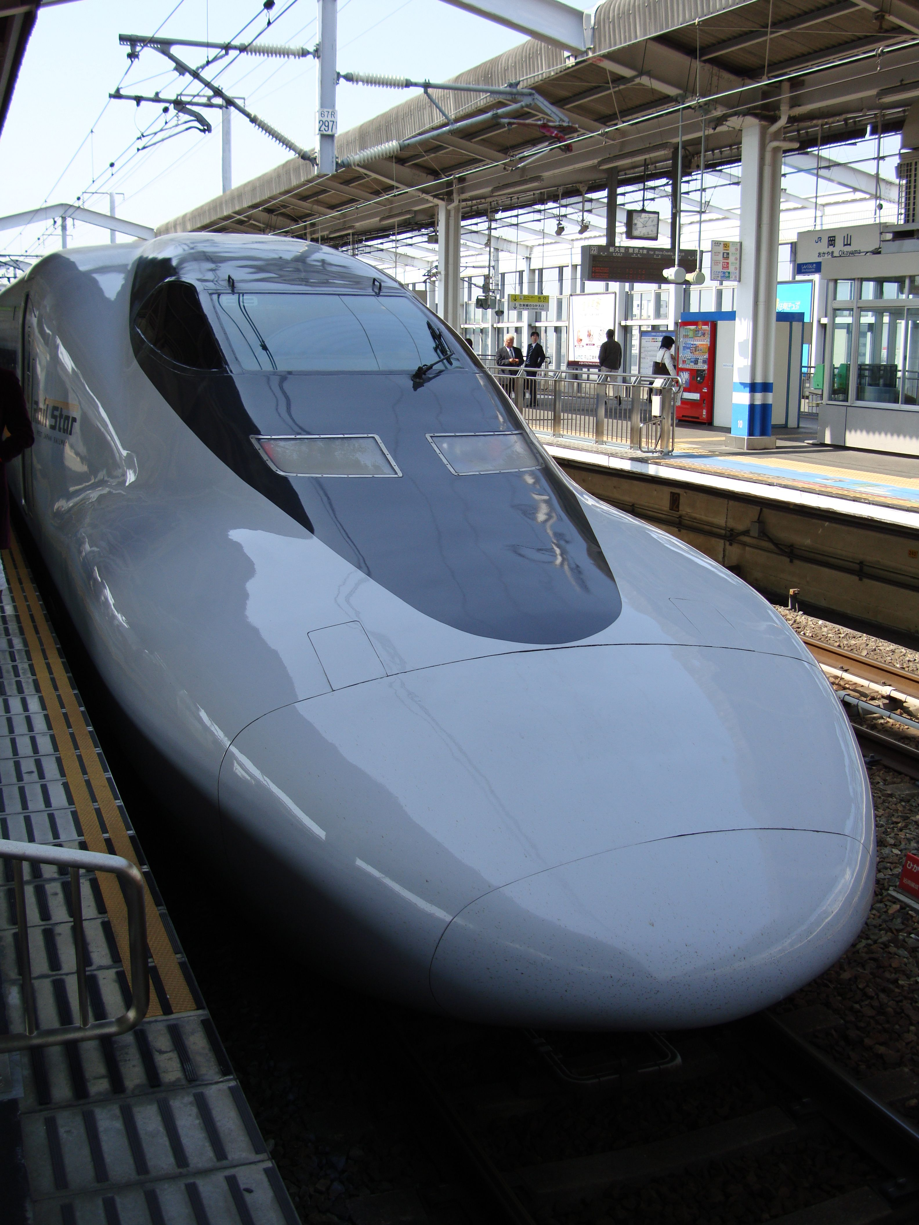 Taking the 500 series NOZUMI Bullet Train from Tokyo to Osaka