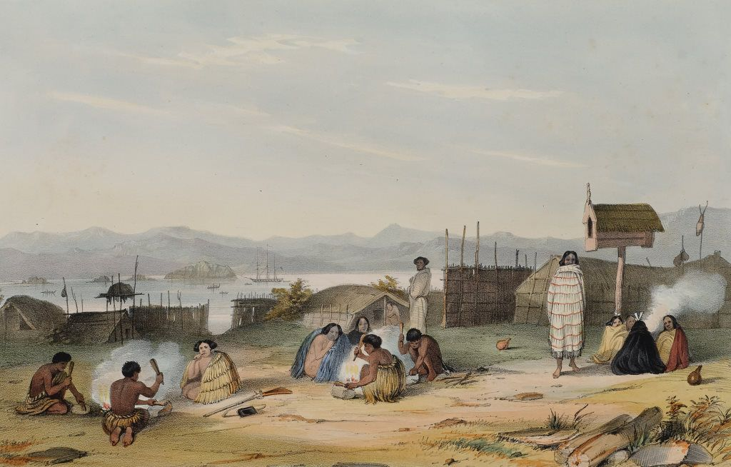 Slaves Preparing Food in 2020 New zealand art, Maori art