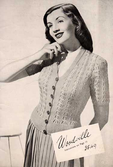 The Vintage Pattern Files 1940s Knitting Woodville Cardigan