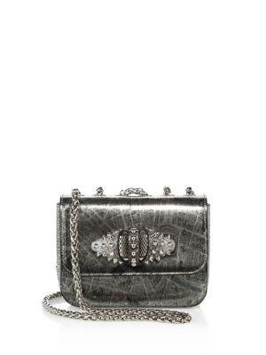 323a0bc5029 CHRISTIAN LOUBOUTIN Sweet Charity Paris Metallic Crossbody Bag ...
