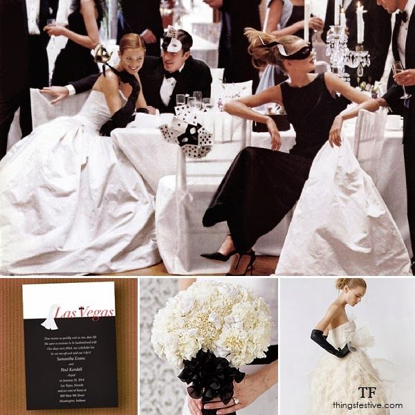Masquerade Wedding Theme With Las Vegas Style Black White Wedding Masquerade Wedding Masquerade Ball