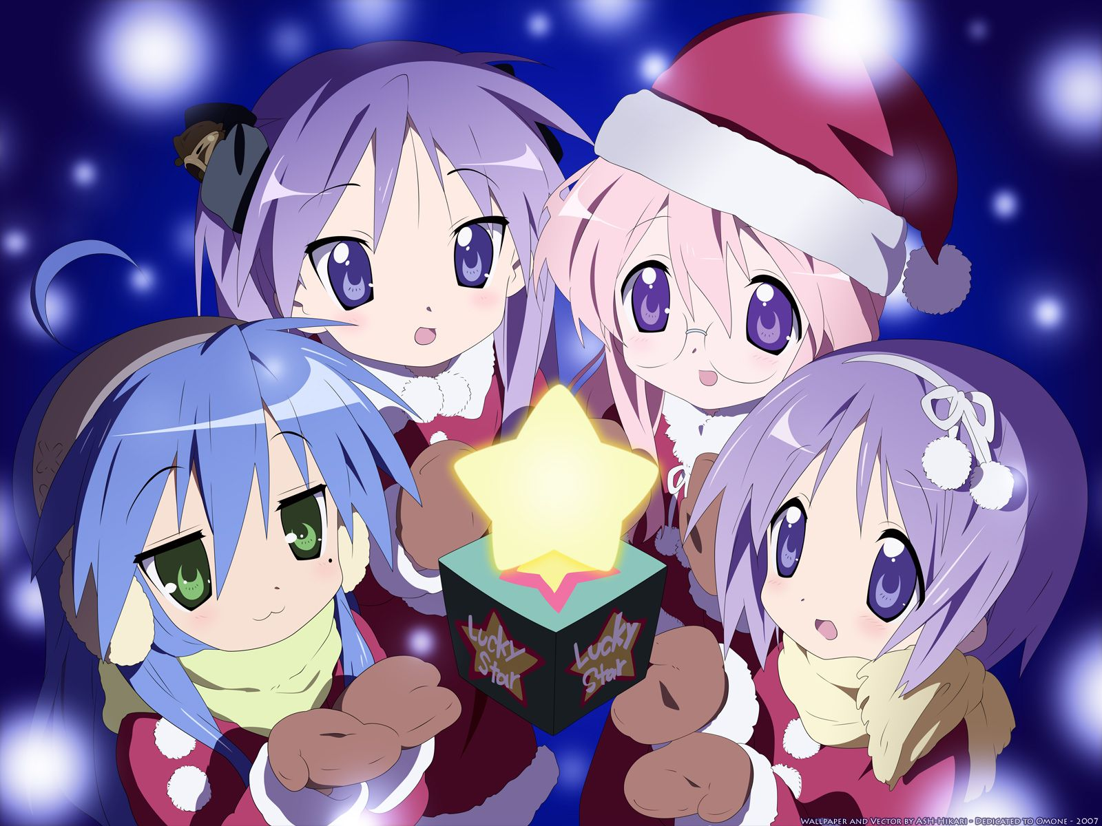 Bleach And Cars Lucky Star Anime Wallpapers Anime Christmas Anime Anime Wallpaper