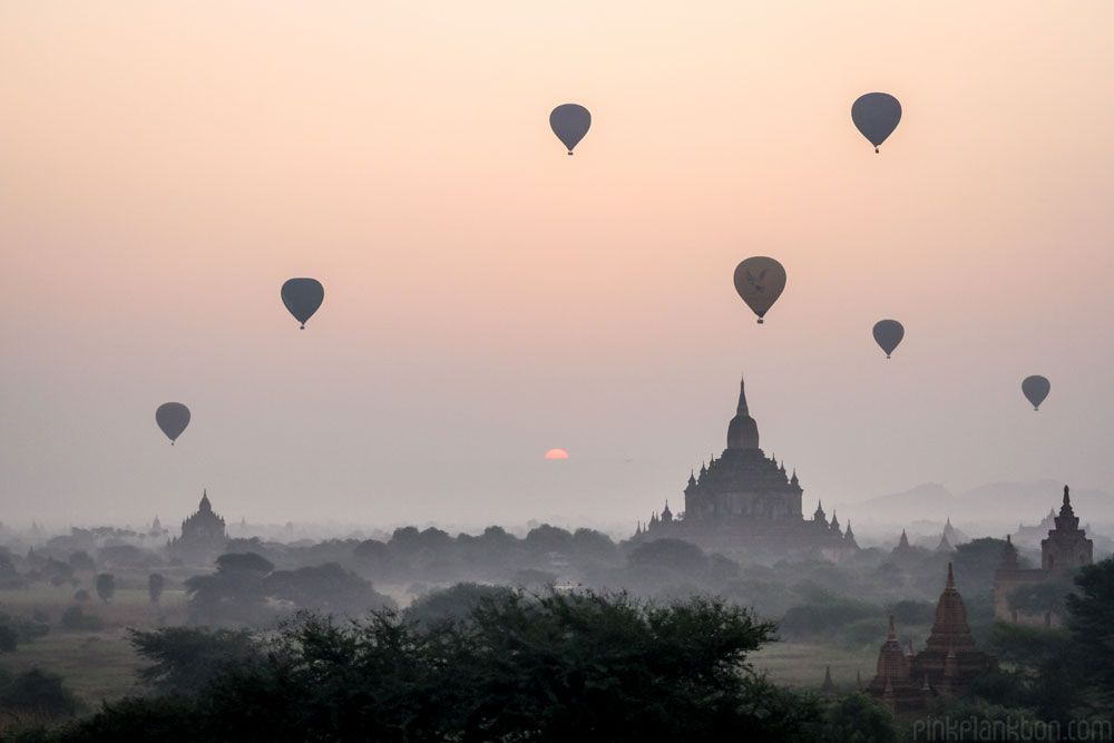 Image result for hot air balloons over bagan
