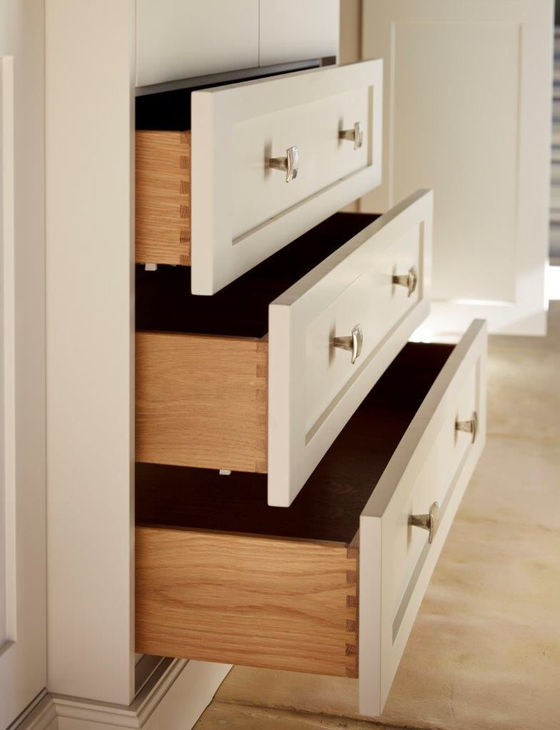 Classic Shaker style wardrobes with solid oak, soft-close drawers by ...