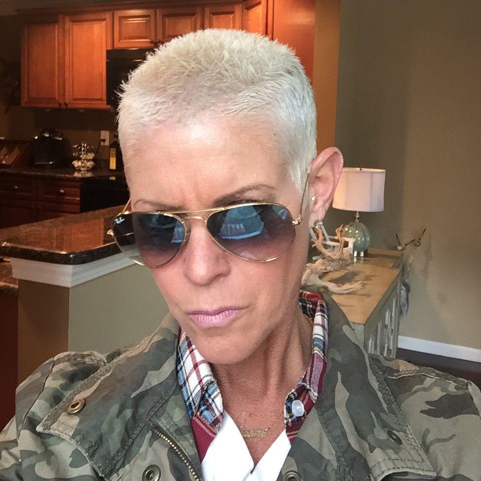 buzz cut | short hair rocks! | pinterest | haircuts, silver haired