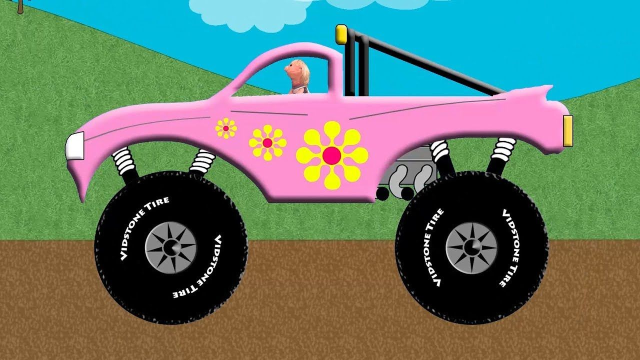 Monster Hover Truck Pink Monster Truck Transforms Into A Flying Truck Monster Trucks Truck Videos For Kids Garbage Truck