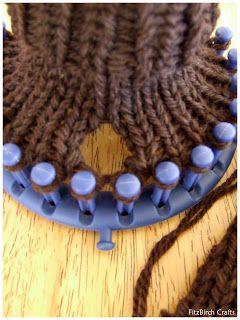 Loom Knit Fingerless Gloves Loom Knitting Pinterest Stricken