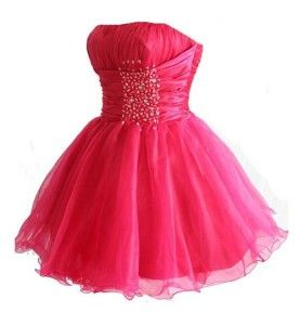 Cute Short Prom Dresses 2014 | Cute mini hot pink prom dresses ...