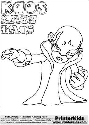 printable or online colorable skylanders swap force coloring page with the evil master of the skylanders