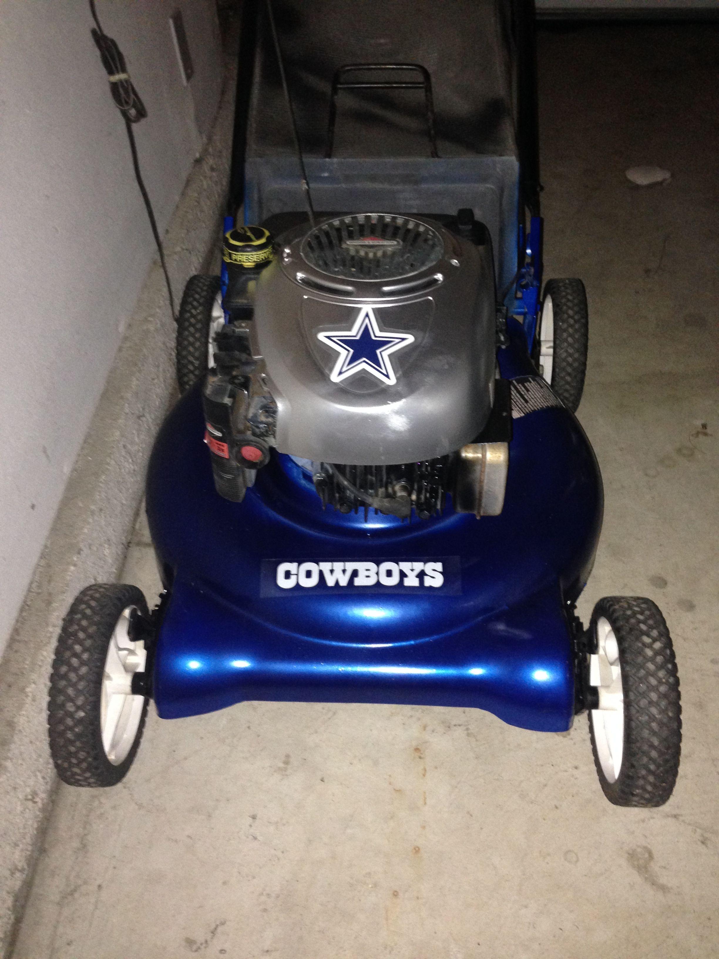 wholesale dealer 3fd80 8ced7 Dallas Cowboy Lawnmower Perfect
