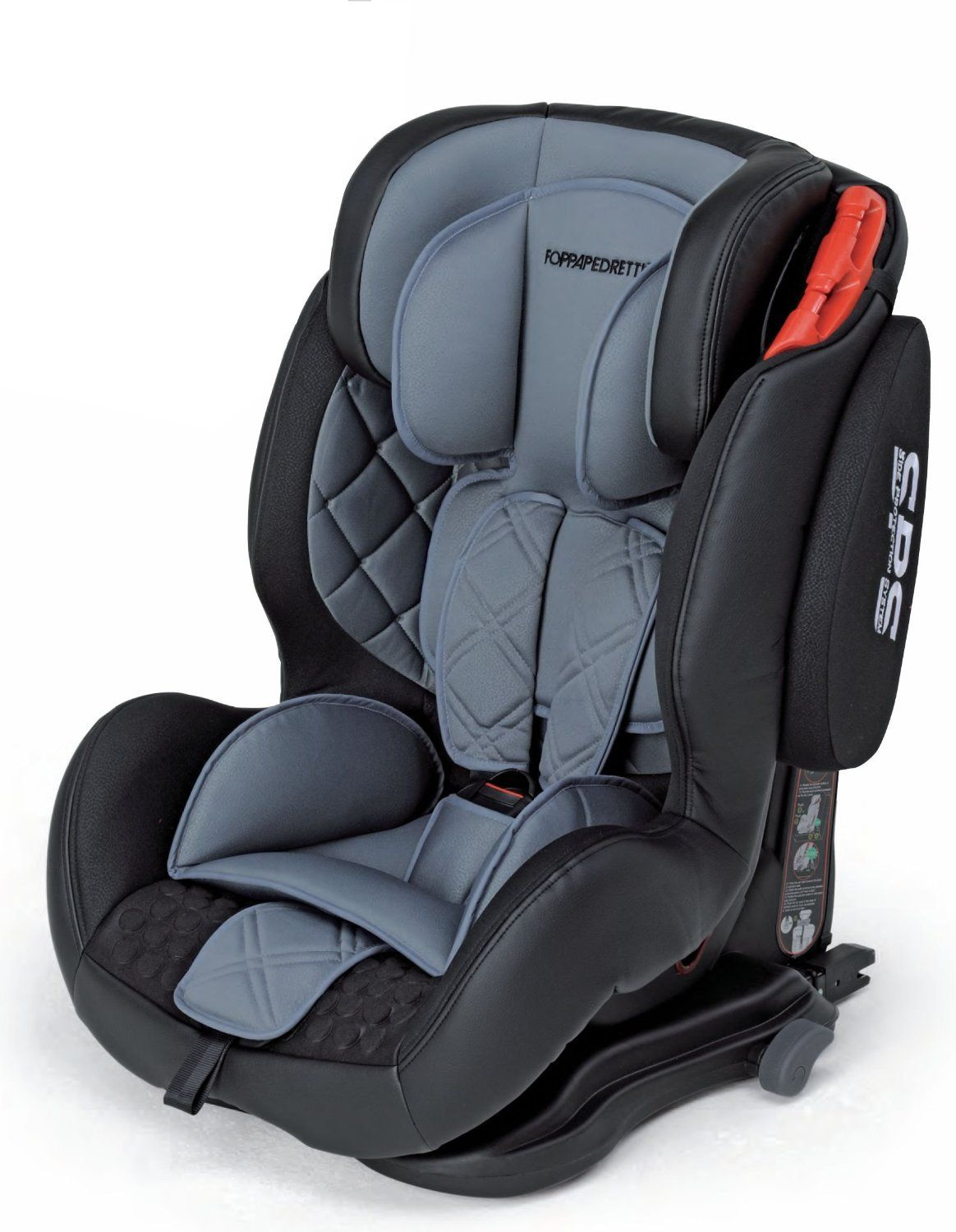 f24d7f096aaa Foppapedretti Iso Dynamik Group 1-3 Car Seat (Grey): Amazon.co.uk: Baby