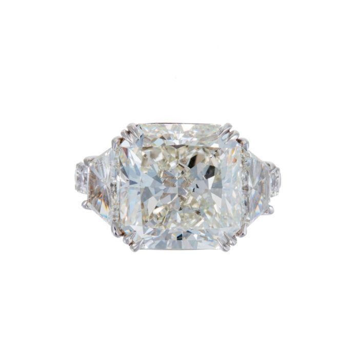 Goldiva Jewelry 10.08 Carat Diamond Ring in Platinum featured in vente-privee.com