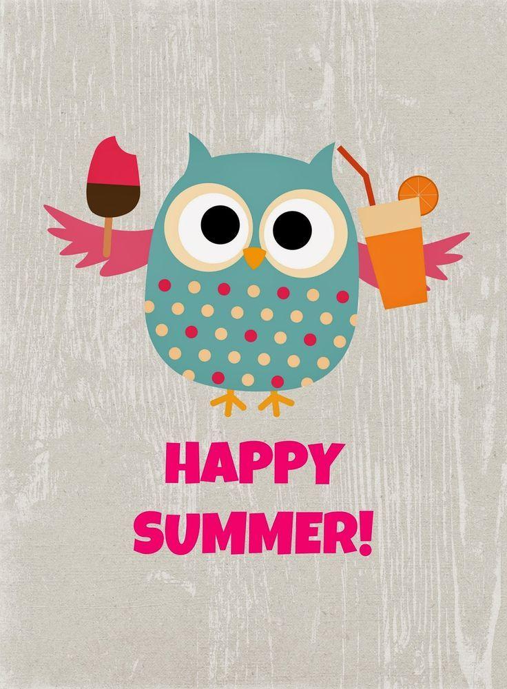 Image result for owls in summer