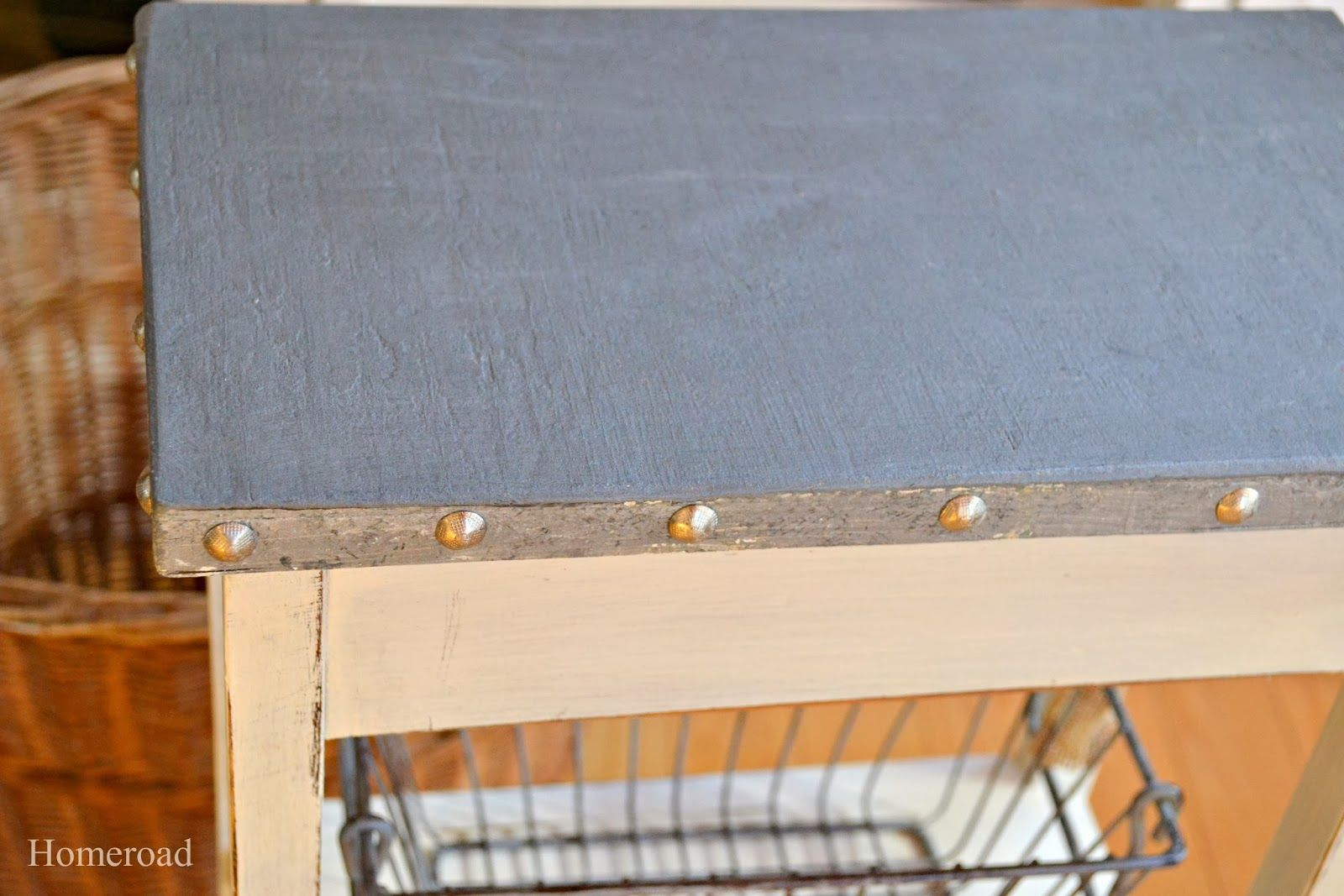 How To Create A Galvanized Table Top Look Steel Paint