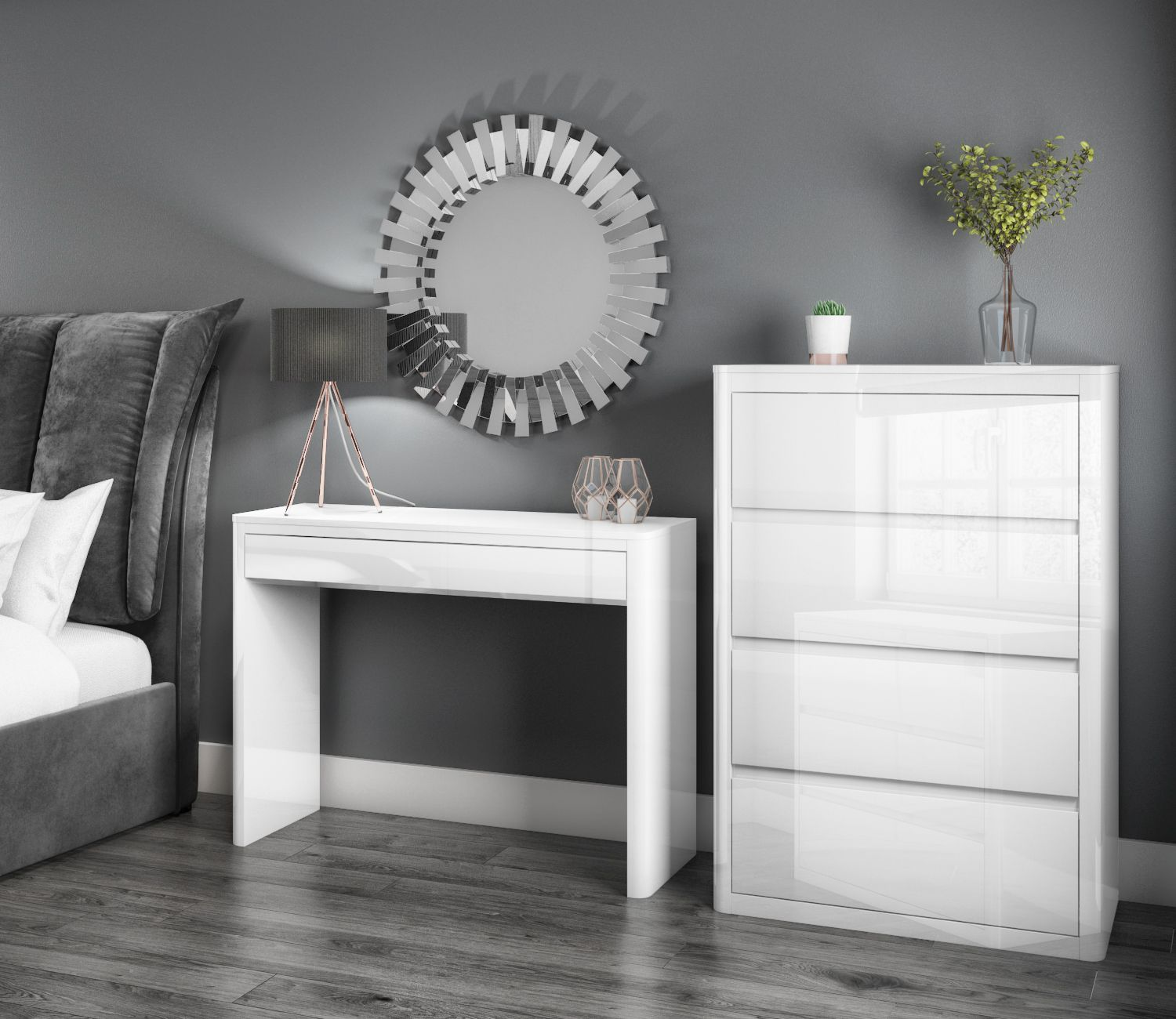 Lexi White High Gloss Bedroom Furniture Chest Of Drawers Furniture Drawers