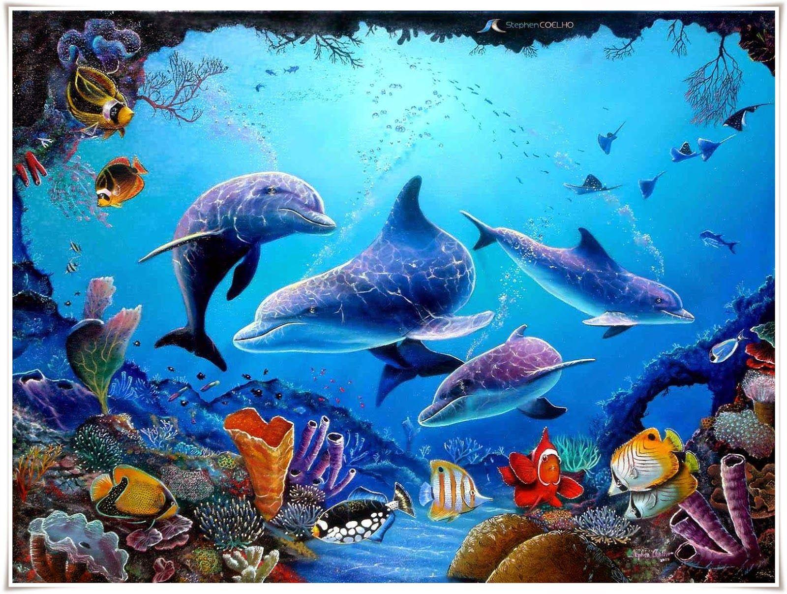 Gambar Ikan Lumba Lumba Nama Binatang Pinterest