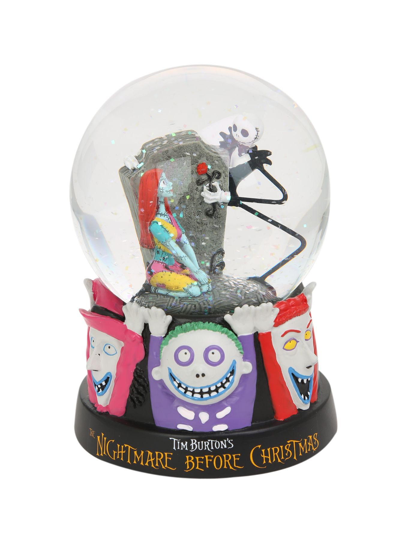 The Nightmare Before Christmas Jack Skellington & Sally Snowglobe ...