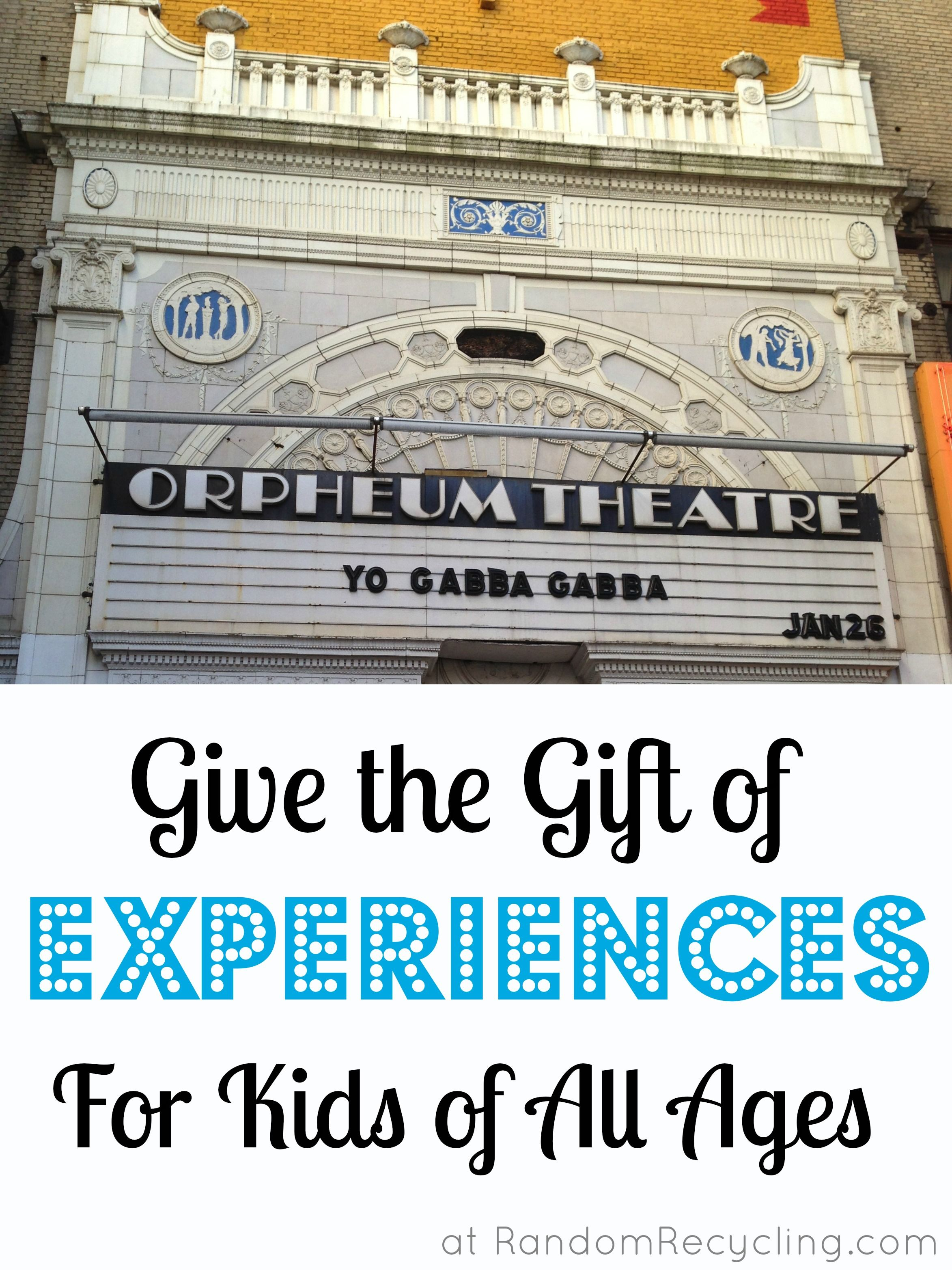 Giving Kids Experience Gifts Instead of Presents | Experience gifts ...