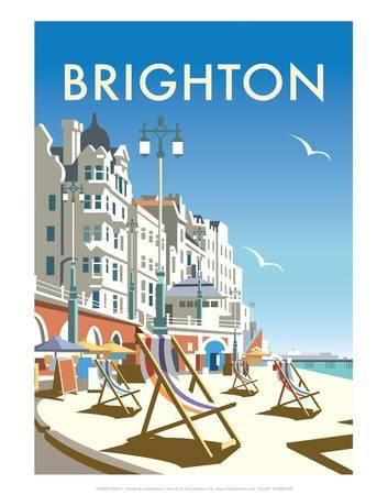 Vintage Travel poster reproduction Brighton Various sizes