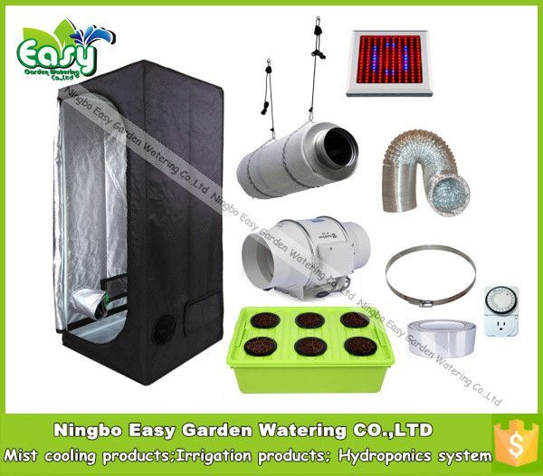 Hydropoinics Complete indoor grow tent kits 80x80x160cm with DWC bucket LED grow light and ventilation  sc 1 st  Pinterest & Hydropoinics Complete indoor grow tent kits 80x80x160cm with DWC ...