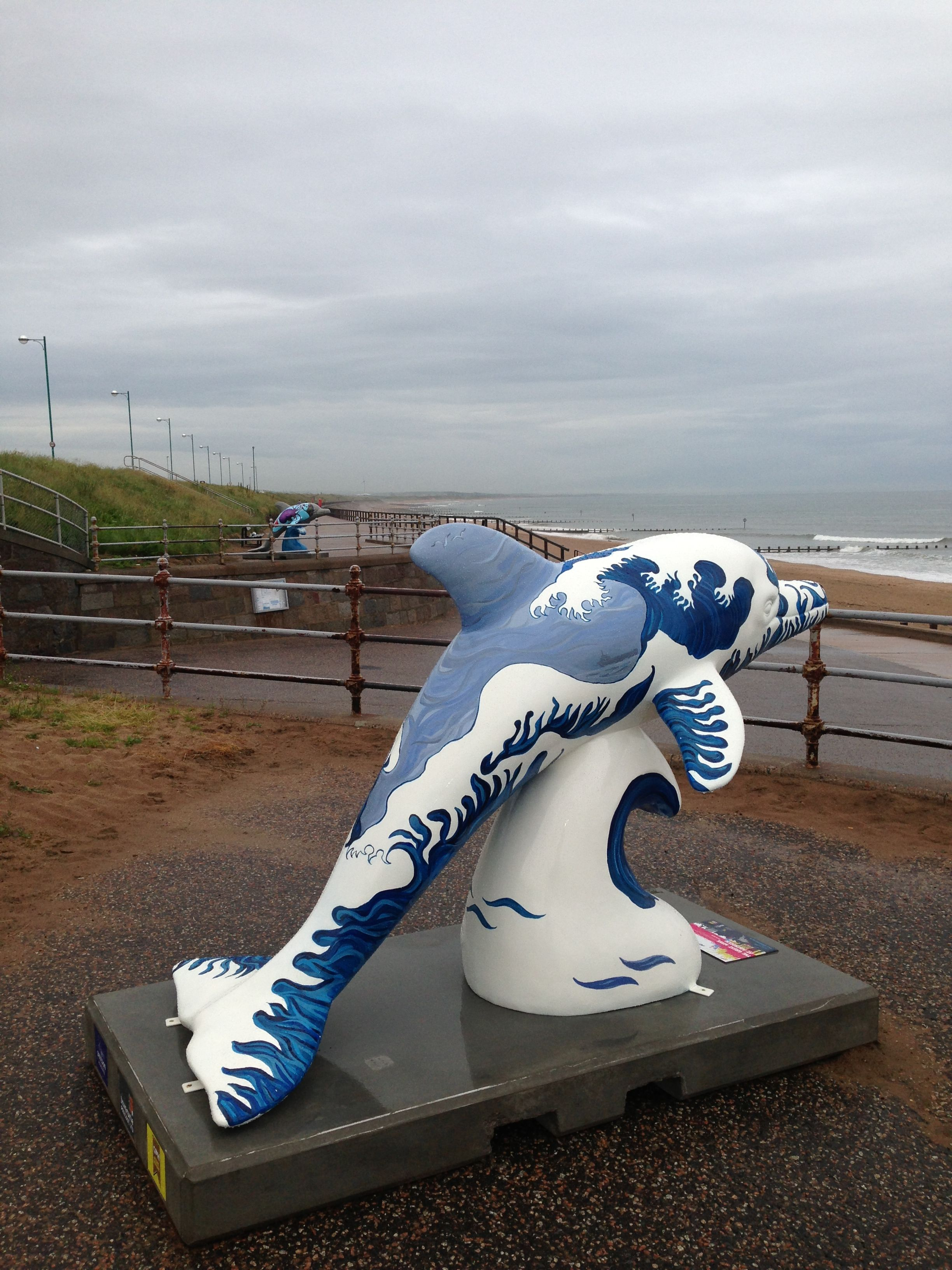 #wilddolphins One of many the wild dolphin sculptures to be found around Aberdeen.