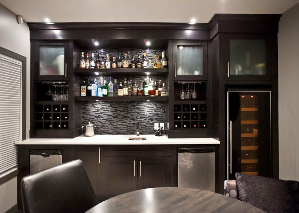 Modern Basement Wet Bar. Wet bar basement  Mi Casa Pinterest