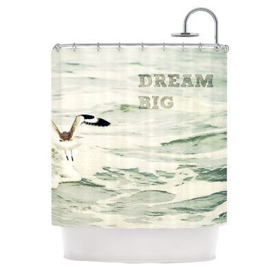 Kess Inhouse Dream Big Single Shower Curtain Big Shower Bird Shower Curtain Bathroom Remodel Cost