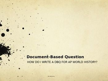 How To Write A Dbq Essay For Ap World History Sample Essays