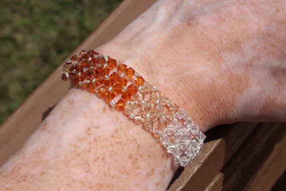 Ombré Bracelet Swarovski Crystal Bracelet On by HandmadeJILLry