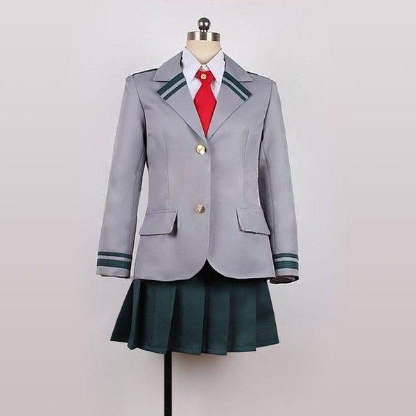 Anime My Hero Academia Asui Tsuyu Sailor suit Cosplay Dress Costume Role Play