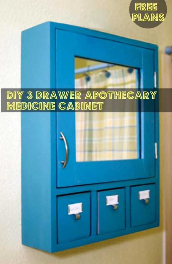 Free DIY Furniture Plans to Build a 3 Drawer Medicine Cabinet ...