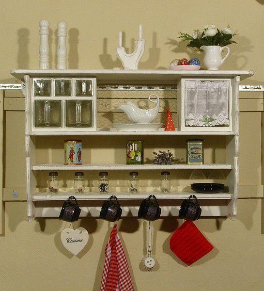 Wandregal, Küchenregal, Schüttenregal, Shabby Style Shabby - wandregal für küche