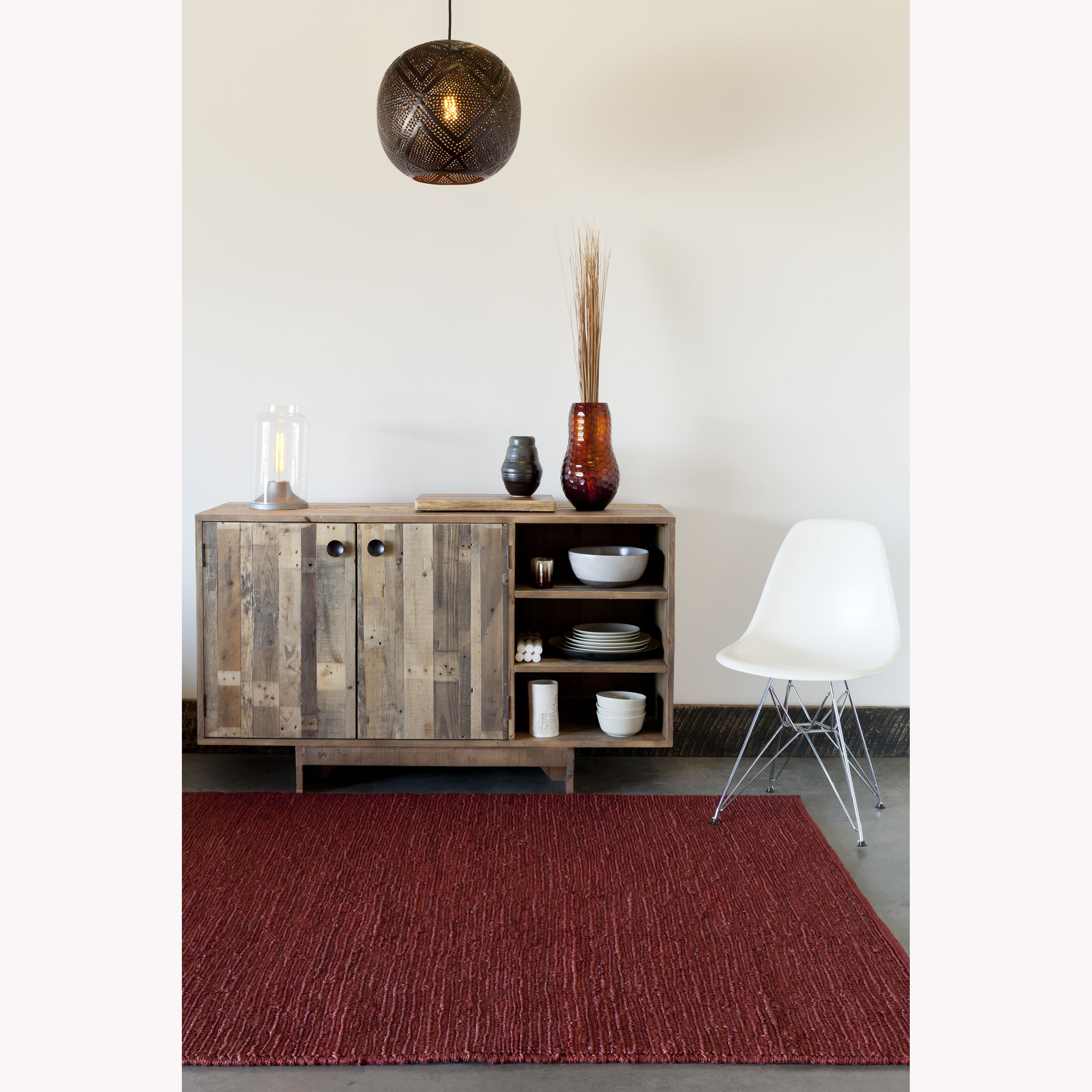 Artist's Loom Hand-woven Casual Reversible Eco-friendly Rug