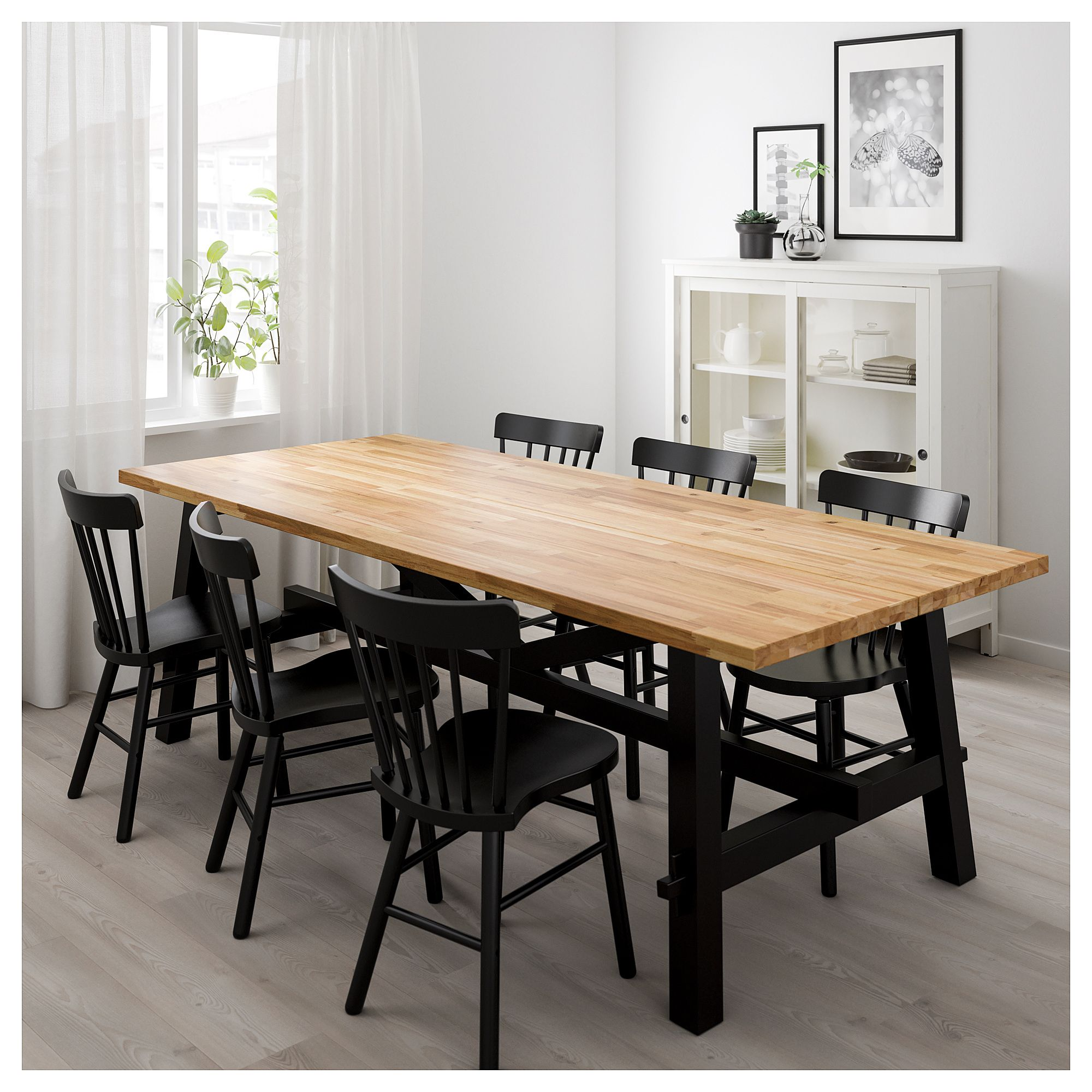 Ikea skogsta dining table acacia