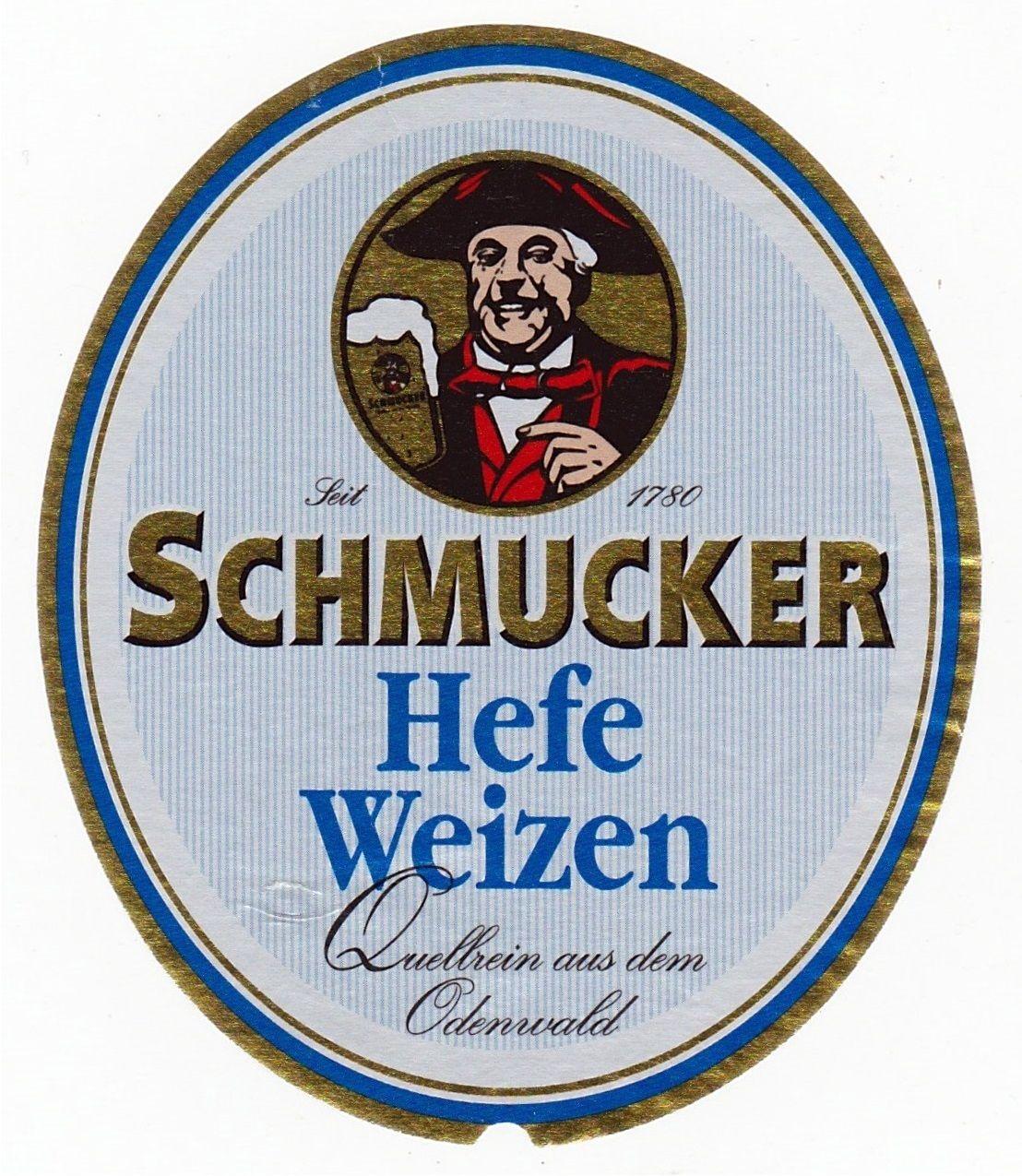 Schmucker Hefe-Weizen, German Hefeweizen 5,0% ABV (Privat-Brauerei Schmucker, Alemania) #label