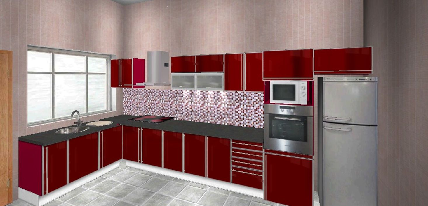 Marvelous Aluminium Kitchen Cabinet for Home Remodeling ...