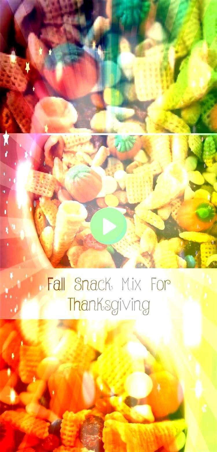 Mix For Thanksgiving My kids love to help out making this Thanksgiving Fall Snack Mix We love the salty sweet taste and its great to enjoy all season longFall Snack Mix F...