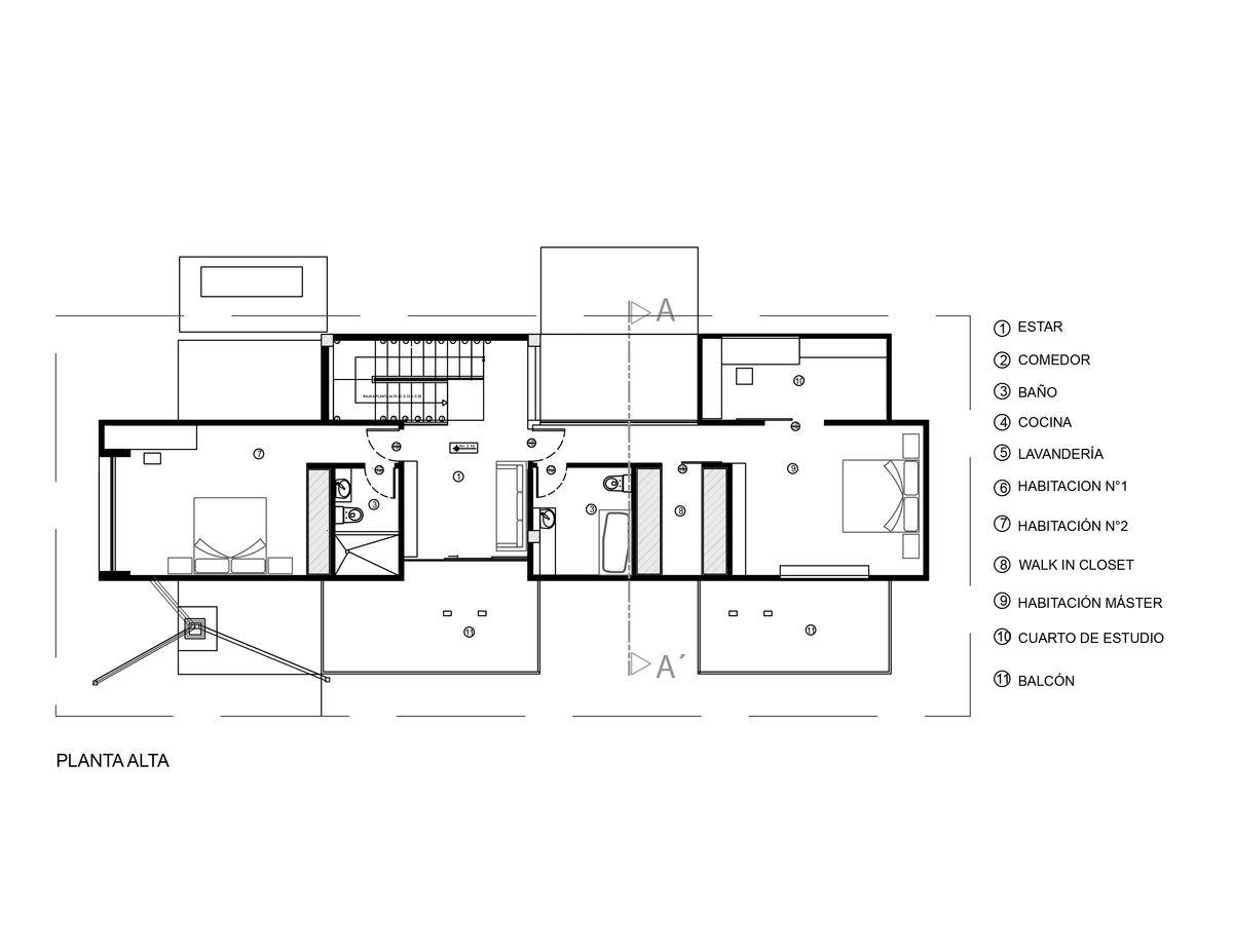 planos de casas de dos pisos con instalaciones