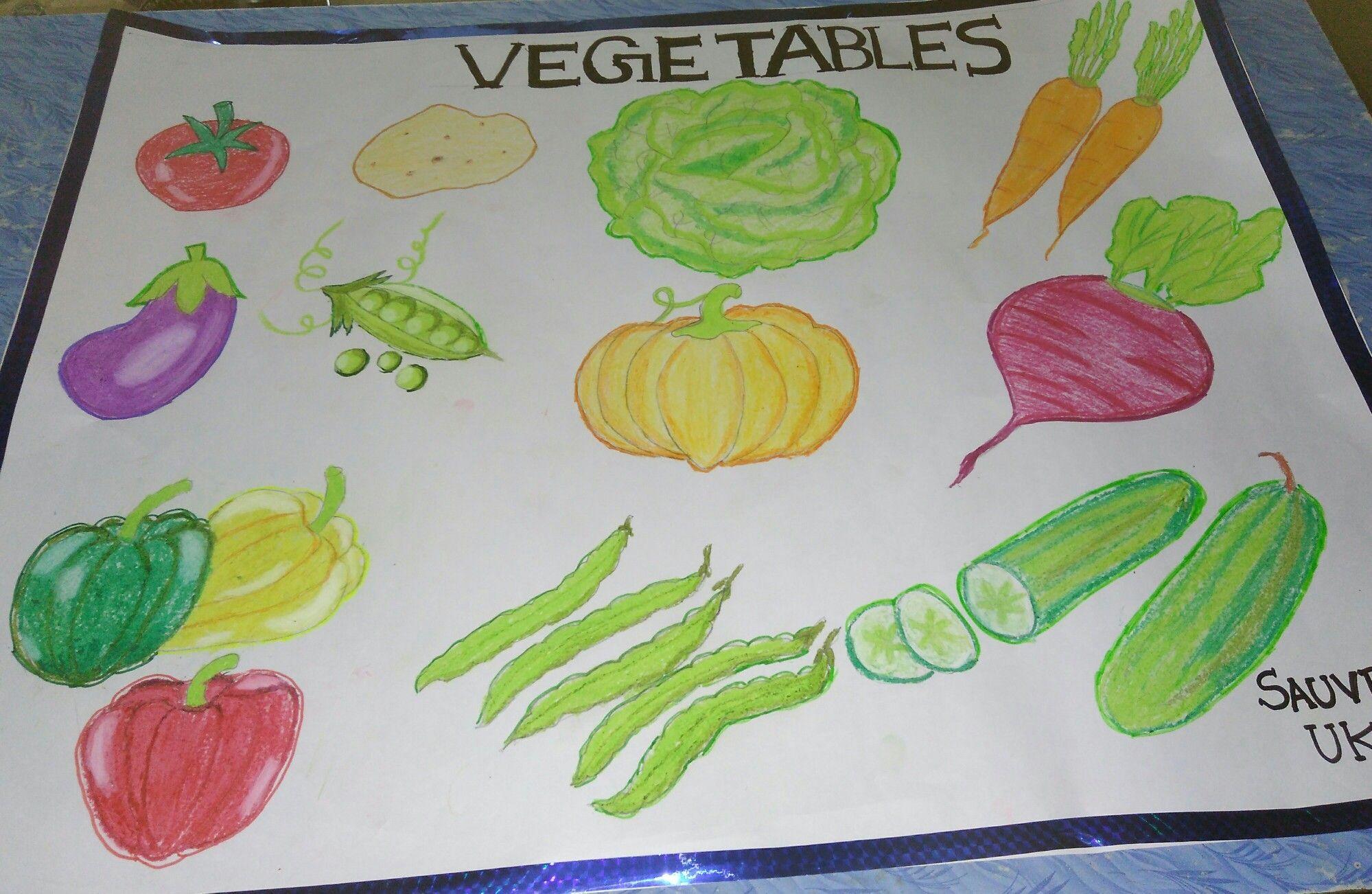 Vegetables Chart For Preschool