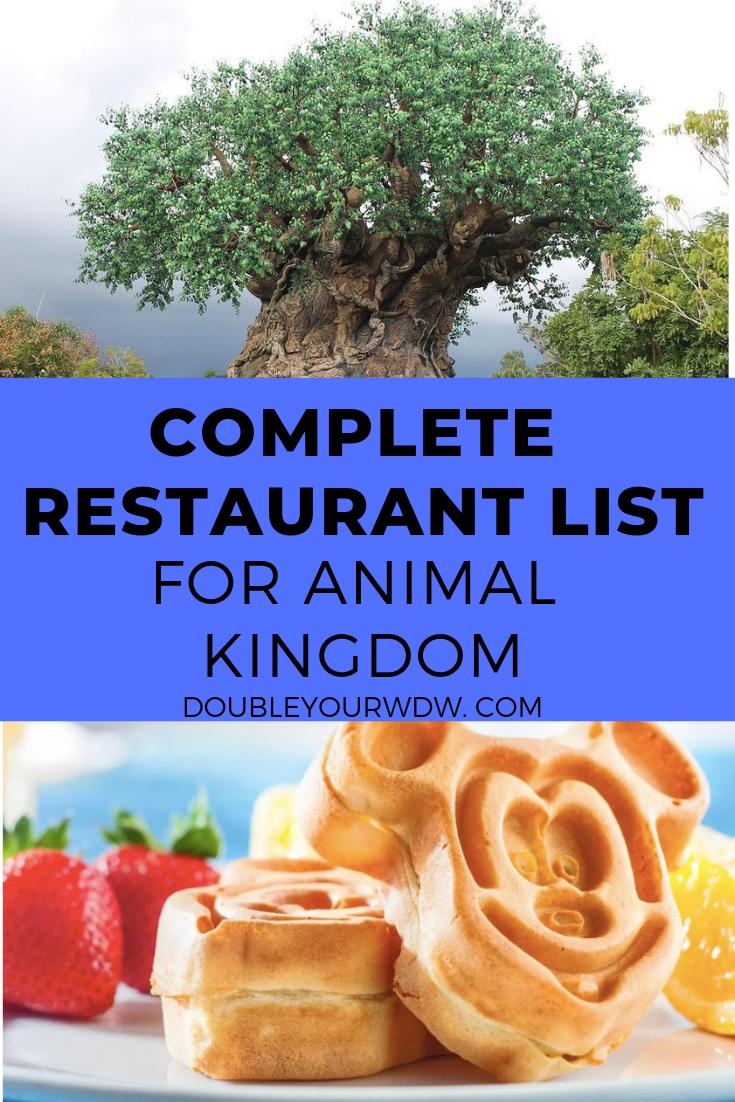 Complete Restaurant List: Animal Kingdom #animalkingdom