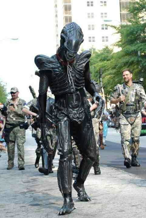 Alien...gruesome.  sc 1 st  Pinterest : alien and predator costumes  - Germanpascual.Com