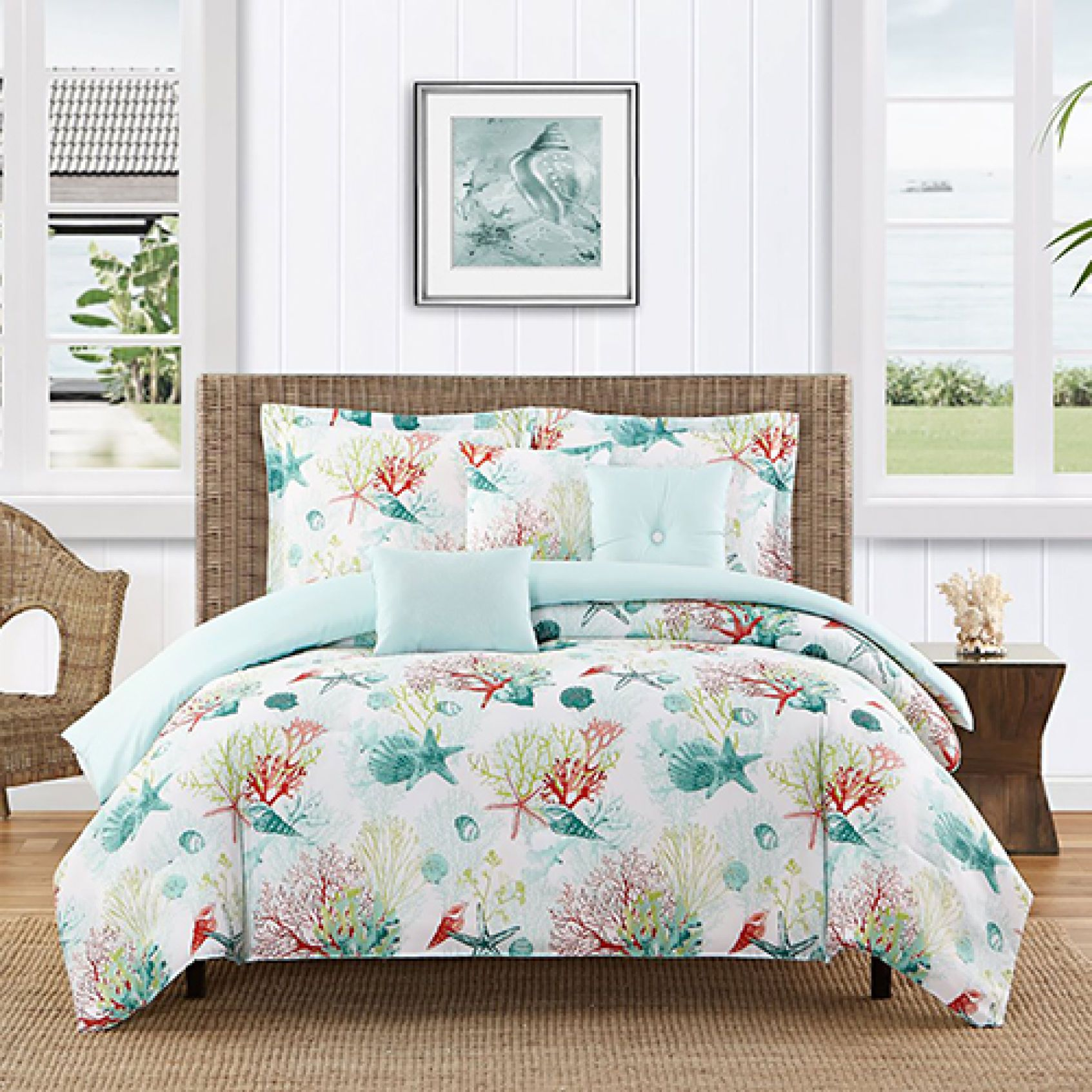 Caribbean Joe Coral Beach 6pc Comforter Set Boscov S