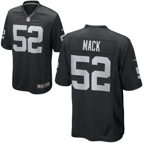 buy popular a863b 536b7 Mens Oakland Raiders Khalil Mack Nike Black Game Jersey ...