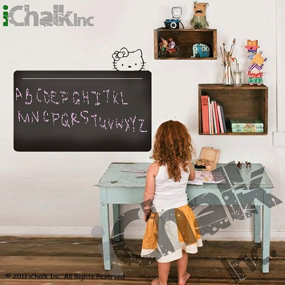 Chalkboard Wall Decal for Home or Office  Large Hello by iChalkInc, $55.00
