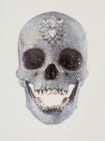 Damien Hirst 2011 Silkscreen with glazes   diamond dust on paper 585 ... 9d05cf7fa8e
