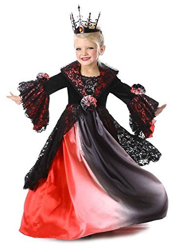 Valentina Vampire Child Costume Medieval Gown Renaissance Theme Party Halloween
