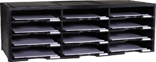 Storex 12-Compartment Literature Organizer/Document Sorter