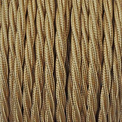 Cable Textile Torsade Or Fil Electrique Luminaire Textiles
