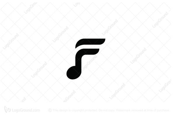 Letter F Music Logo Music Logo Music Logo Design Musician Logo
